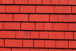 Red Wooden tiles wall