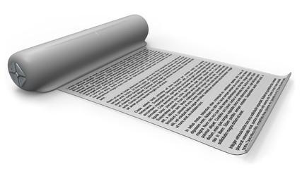 Electronic reader with flexible screen