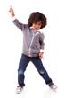 Little african american boy dancing