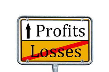Sign - Losses / Profits