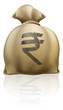 Rupee money sack