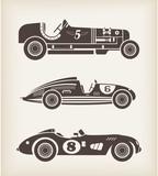 Fototapety Vector vintage sport racing cars
