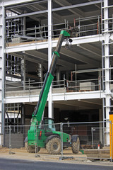 telehandler on construction site