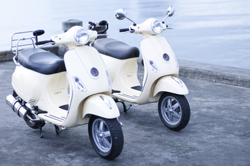 Old Fashion Motorbikes