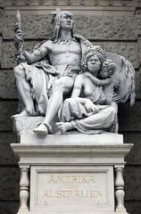 America and Australia, personifications. Vienna