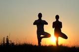 Yoga couple.