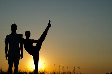 Acrobatic couple.