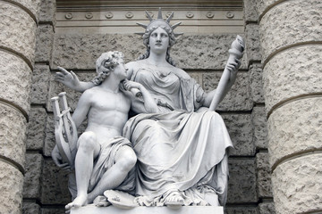 Europa, statues personifications of the continents. Vienna