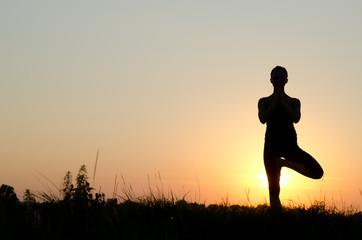 Yoga woman.