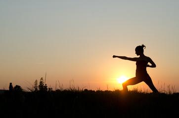 Karate on sunset