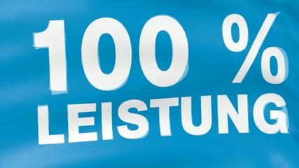 Banner 100% Leisteung