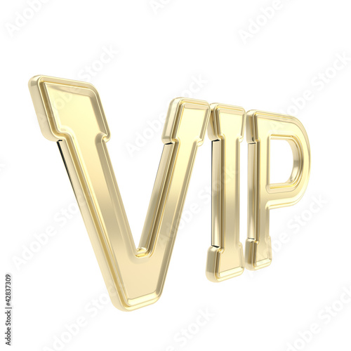 VIP golden emblem symbol isolated