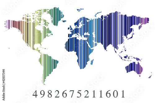 Código de barras continentes