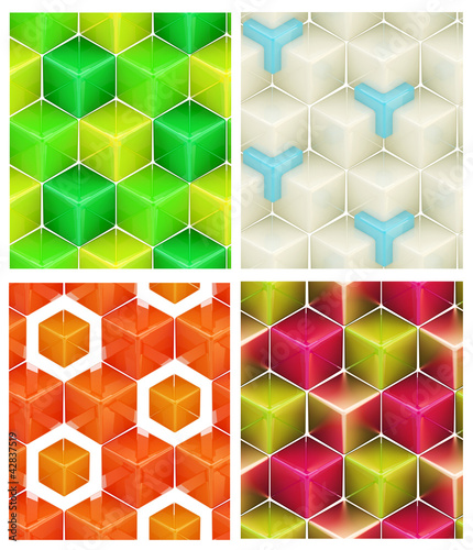 Seamless abstract colorful background © Dmitri Stalnuhhin