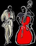 saxophonist and bass