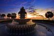 Leinwanddruck Bild - Pineapple Fountain Charleston, South Carolina