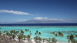 Beach and Lagoon of Moorea Island