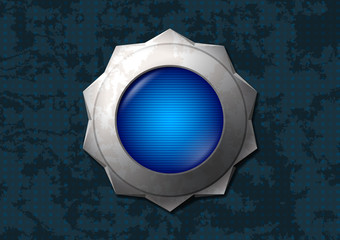 Shiny blue star button