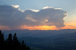 Sonnenuntergang im Gebirge