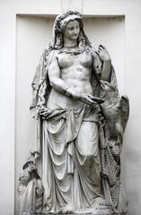 Vienna - mythology statue of river Drava by Palm house