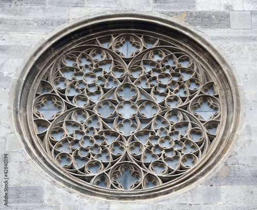 Rose window on St. Stephen's Cathedral in Vienna