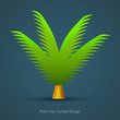Icon Tree Design. Palm Tree Symbol