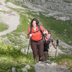 gutgelaunte Wanderer