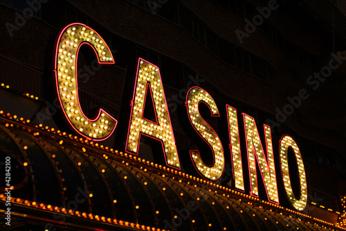 Foto op Canvas Las Vegas Casino Sign