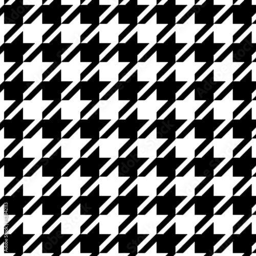 Papier peint motif pied de poule noir et blanc - Motif pied de poule ...