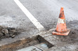 Pothole and road surface repair works