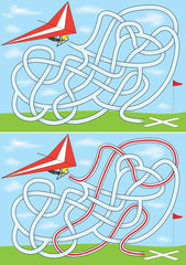 Hang gliding maze