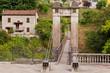 Old beautiful bridge in Bagni di Lucca, Italy
