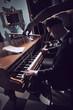 Seductive woman on the piano