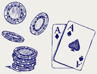 Gambling. Sketch