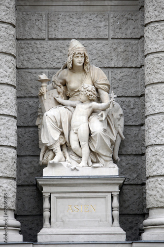 Asia, statues personifications of the continent. Vienna