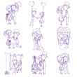 Wedding Doodles - Design Elements - for Scrapbook, Invitation in