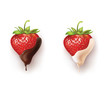 strawberry and chocolate black and white. vector