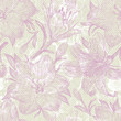 Romantic seamless pattern with lily