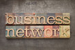 business network in wood type