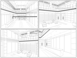 Modern Hall Vector 07