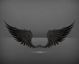 Wings black, eps10
