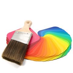 Farbkarten mit Pinsel