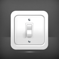 Light switch, vector