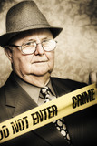 Vintage portrait of a crime detective