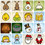 Sticker Set Holidays No. 1