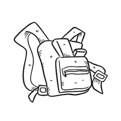 backpack in doodle style