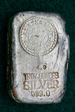 Hand-poured Silver Bullion Bar - Ingot