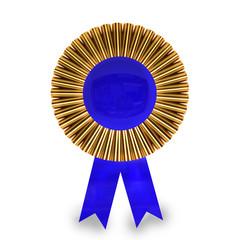 Blank award ribbon rosette