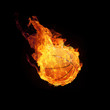Basketball in Flammen 3D