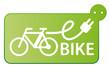 e-bike vector badge